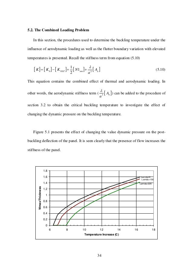 34 5.2. The Combined Loading Problem In this section, the procedures used to determine the buckling temperature under the ...