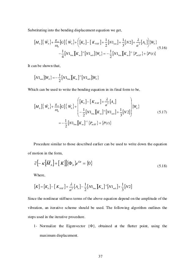 37 Substituting into the bending displacement equation we get,                            ...