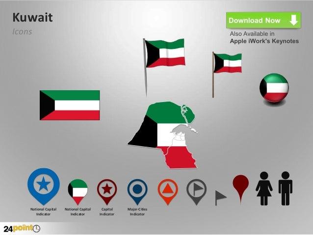 Kuwait map powerpoint template kuwait toneelgroepblik Gallery
