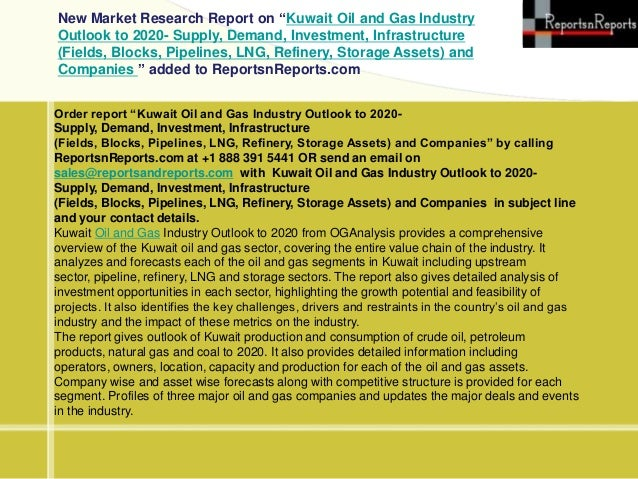 Kuwait oil and gas industry q2