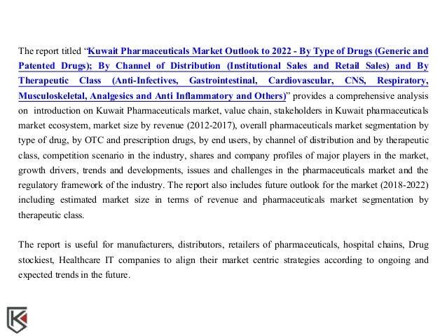 Pharmaceuticals Sales Kuwait, Trends Pharmaceuticals Kuwait