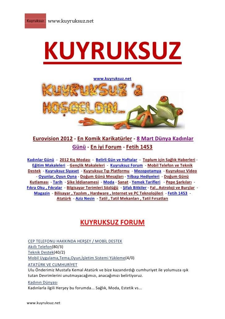 Kuyruksuz   www.kuyruksuz.net         KUYRUKSUZ                                      www.kuyruksuz.net   Eurovision 2012 -...