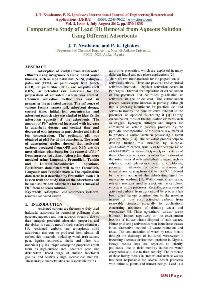 J. T. Nwabanne, P. K. Igbokwe / International Journal of Engineering Research and                  Applications (IJERA)   ...