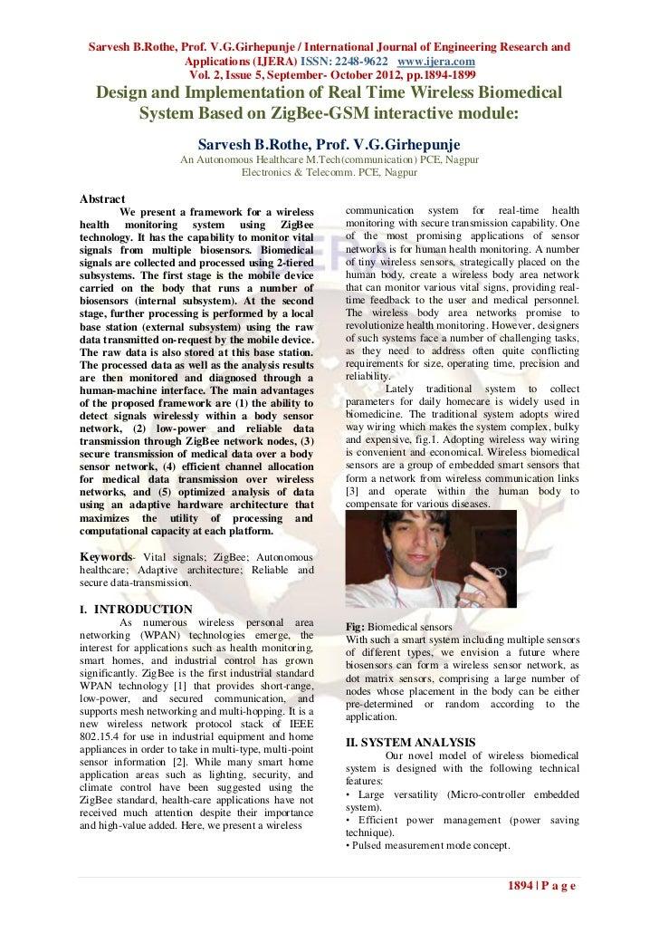 Sarvesh B.Rothe, Prof. V.G.Girhepunje / International Journal of Engineering Research and                   Applications (...