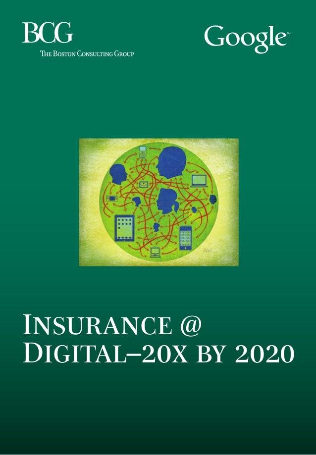Insurance @ Digital–20x by 2020