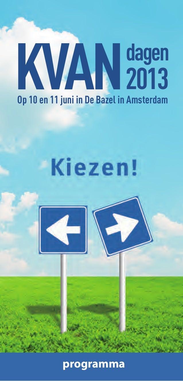 KVANOp 10 en 11 juni in De Bazel in Amsterdamdagen2013programma