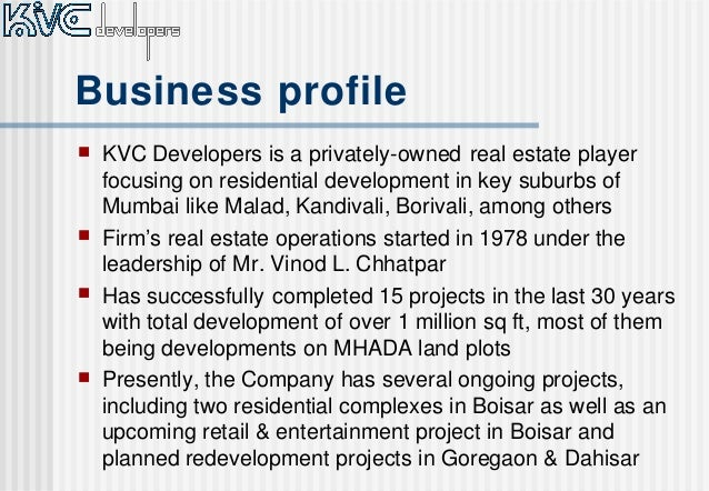 executive summary july 2014 2 business profile - Real Estate Profile Summary