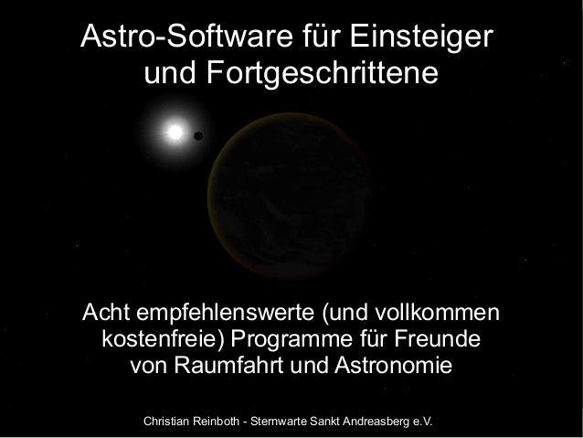 Astro-Software für Einsteiger  und Fortgeschrittene  Acht empfehlenswerte (und vollkommen  kostenfreie) Programme für Freu...