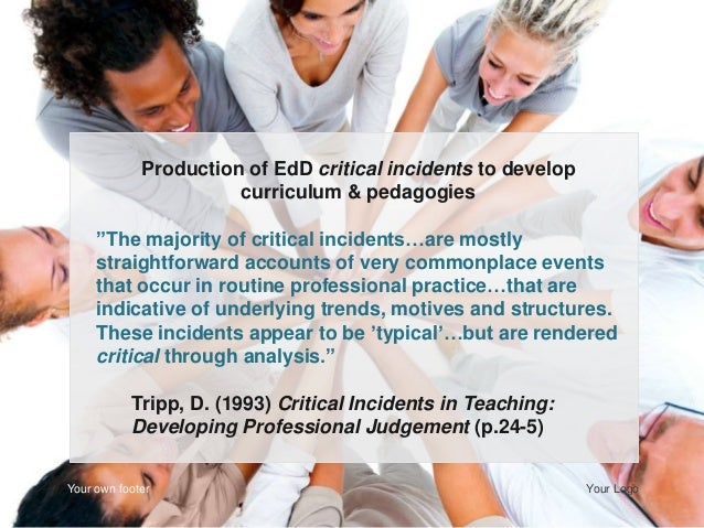 critical incidents in teaching developing professional judgement