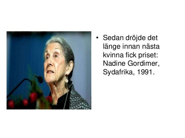 första kvinnan som fick nobelpris