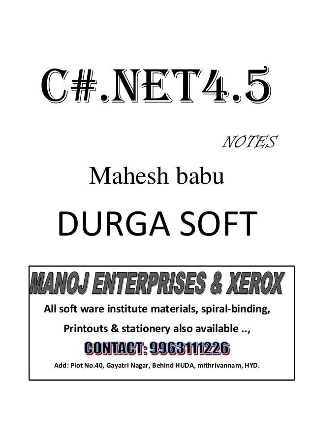 Learn C# - C#  NET Tutorial PDF by Industry Expert