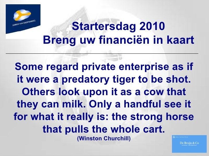 Kv K Startersdag 2010 Financ In Kaart Vdef