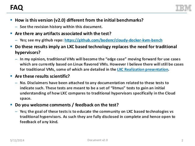 FAQ  How is this version (v2.0) different from the initial benchmarks? – See the revision history within this document. ...