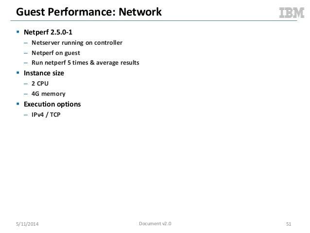 Guest Performance: Network  Netperf 2.5.0-1 – Netserver running on controller – Netperf on guest – Run netperf 5 times & ...