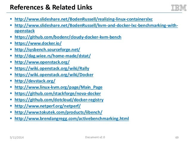 References & Related Links  http://www.slideshare.net/BodenRussell/realizing-linux-containerslxc  http://www.slideshare....