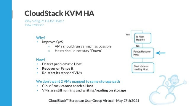 """Why? • Improve QoS ○ VMs should run as much as possible ○ Hosts should not stay """"Down"""" How? • Detect problematic Host • Re..."""