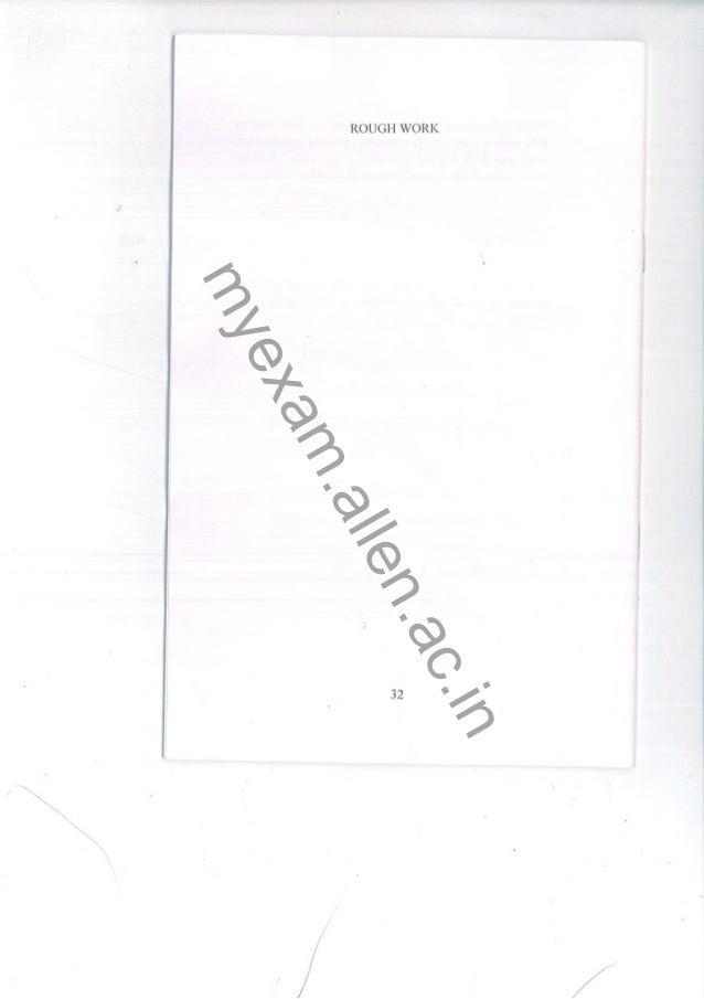 KVPY 2013 Stream SA Paper
