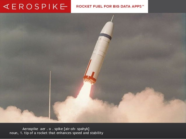 Aerospike aer . o . spike [air-oh- spahyk] noun, 1. tip of a rocket that enhances speed and stability