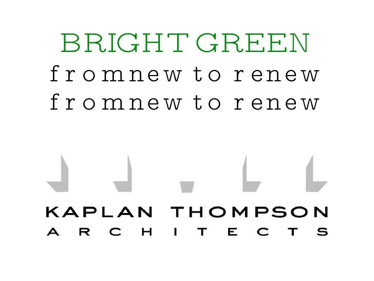 BRIGHT GREEN from new to renew