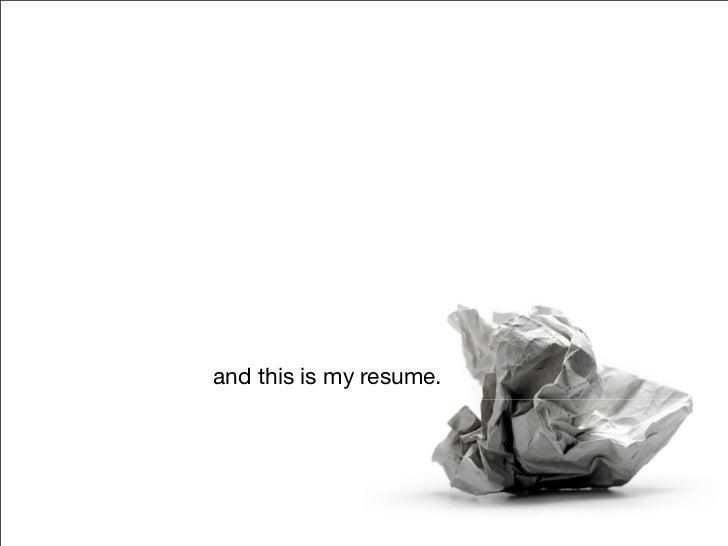Rethinking Resumes Slide 2