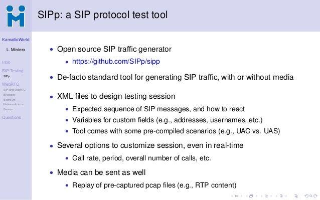 SIP/WebRTC load testing @ KamailioWorld 2017