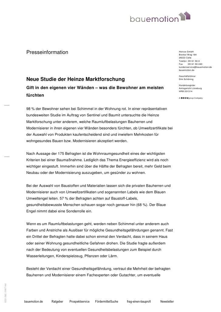 Presseinformation                                                                                  Heinze GmbH            ...