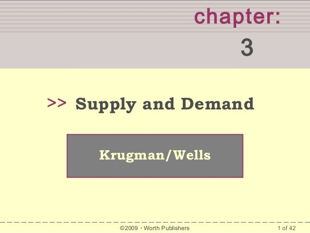 chapter:  3 >> Supply and Demand Krugman/Wells  ©2009  Worth Publishers  1 of 42