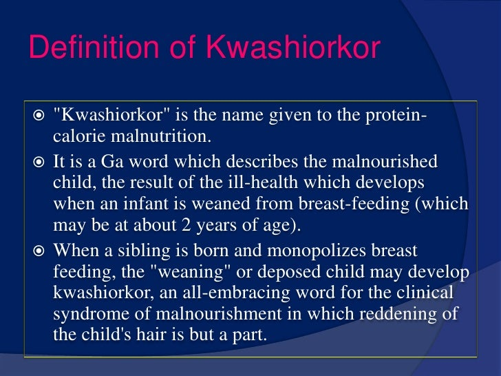 epidemiology of the kwashiorkor disorder essay Free essay: running head: the prevalence of co-occurring disorders the prevalence of co-occurring disorders launita d joseph grand canyon university august.