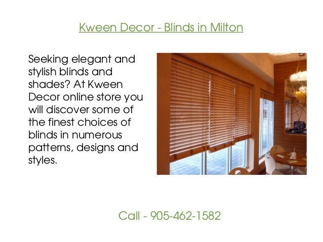 Kween Decor - Window Covering in Milton Slide 2
