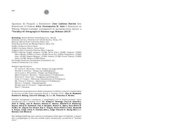 thesis tungkol sa wikang ilokano