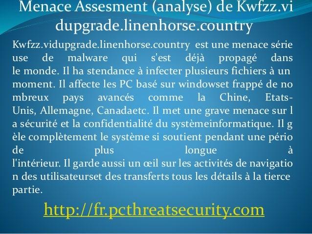 Menace Assesment (analyse) de Kwfzz.vi dupgrade.linenhorse.country Kwfzz.vidupgrade.linenhorse.country est une menace séri...