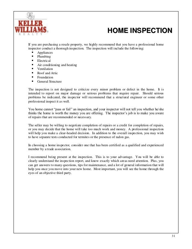 HOME INSPECTION .