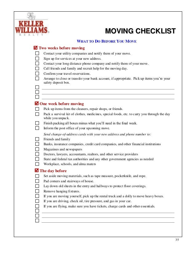 moving to another state checklist