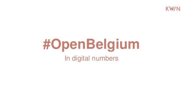 #OpenBelgium In digital numbers