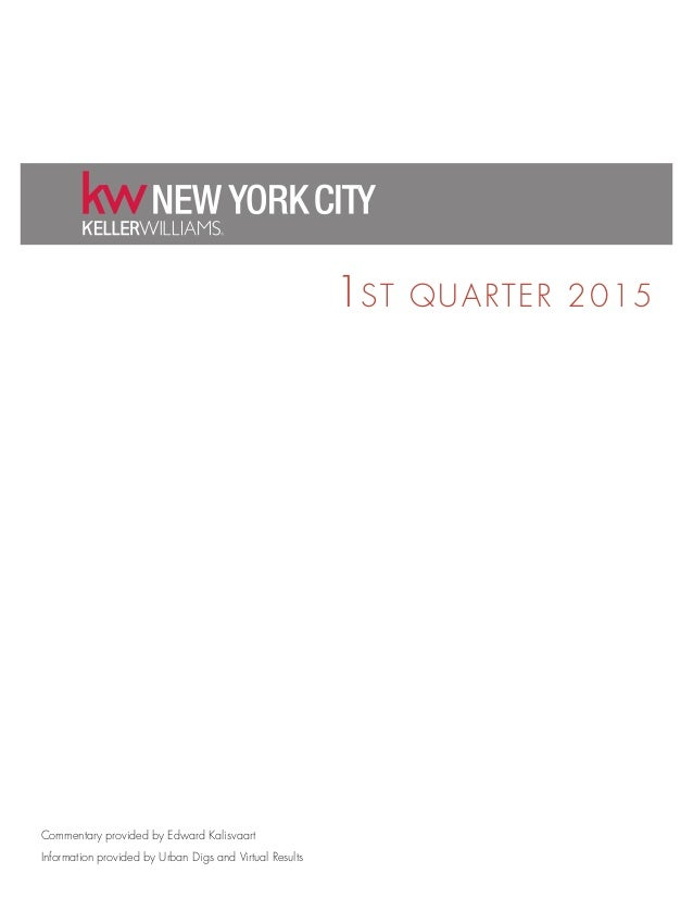 1ST QUARTER 2015 Commentary provided by Edward Kalisvaart Information provided by Urban Digs and Virtual Results