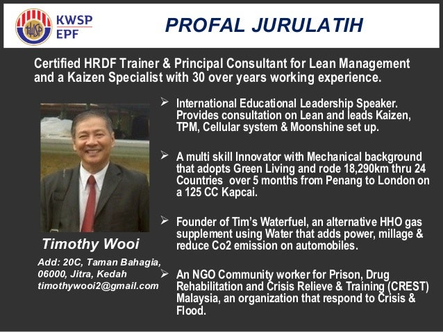  International Educational Leadership Speaker. Provides consultation on Lean and leads Kaizen, TPM, Cellular system & Moo...