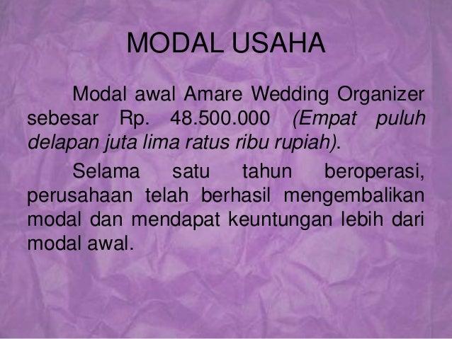 Contoh proposal eo wedding