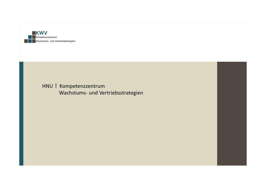 HNUKompetenzzentrum        Wachstums‐ undVertriebsstrate...