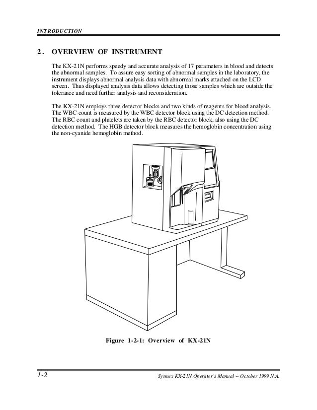 Kx 21 Sysmex Service manual