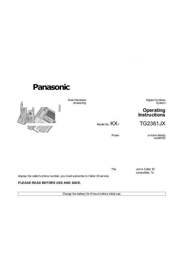 Panasonic                                        Dual Handsets                                             Digital Cordles...
