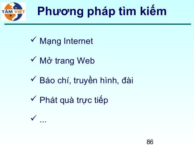 86Phương pháp tìm kiếm Mạng Internet Mở trang Web Báo chí, truyền hình, đài Phát quà trực tiếp ...
