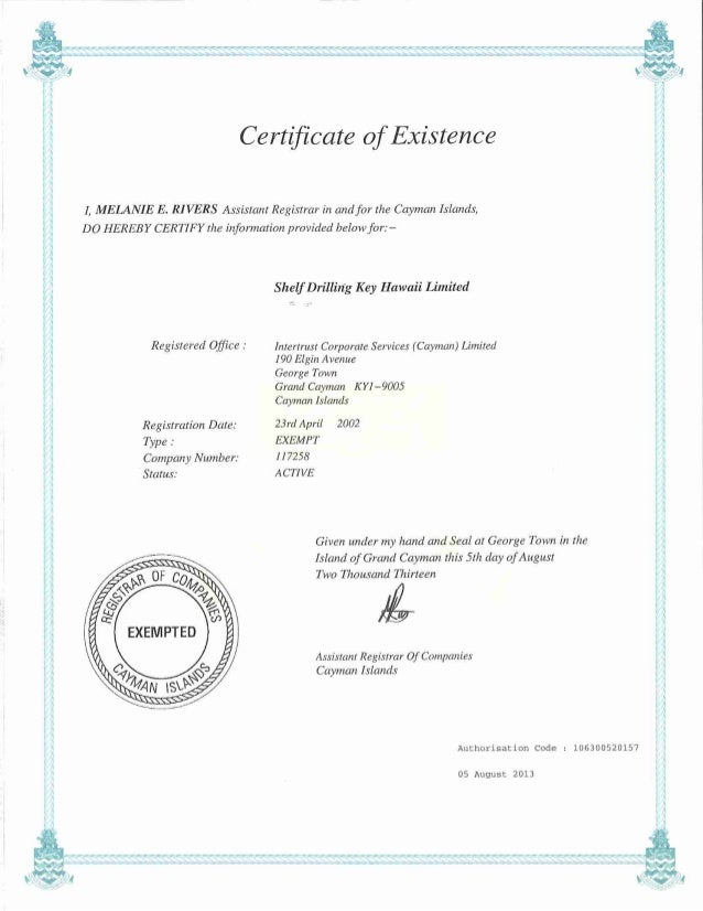 Ky65060 Certificate Of Existence