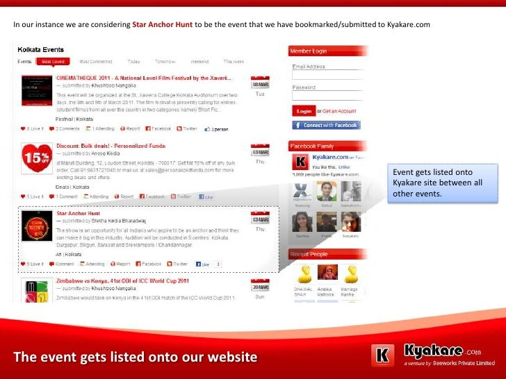 In our instance we are considering Star Anchor Hunt to be the event that we have bookmarked/submitted to Kyakare.com<br />...