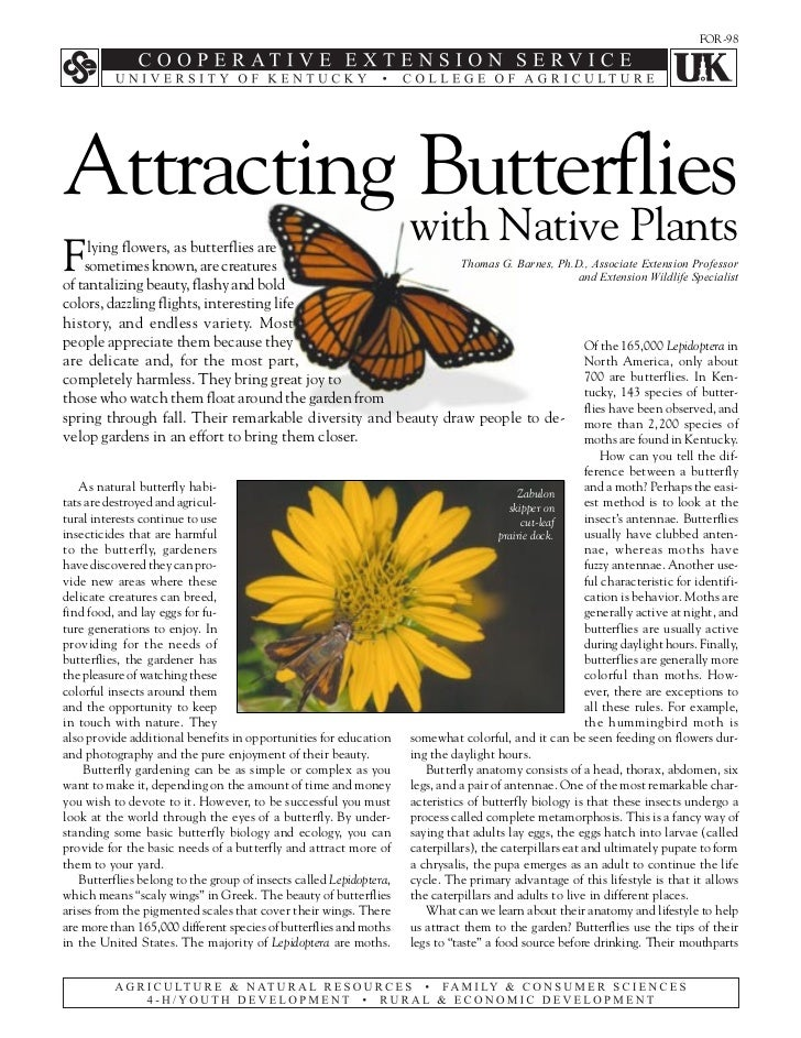 FOR-98Attracting Butterflies                                                                    with Native PlantsF    lyi...