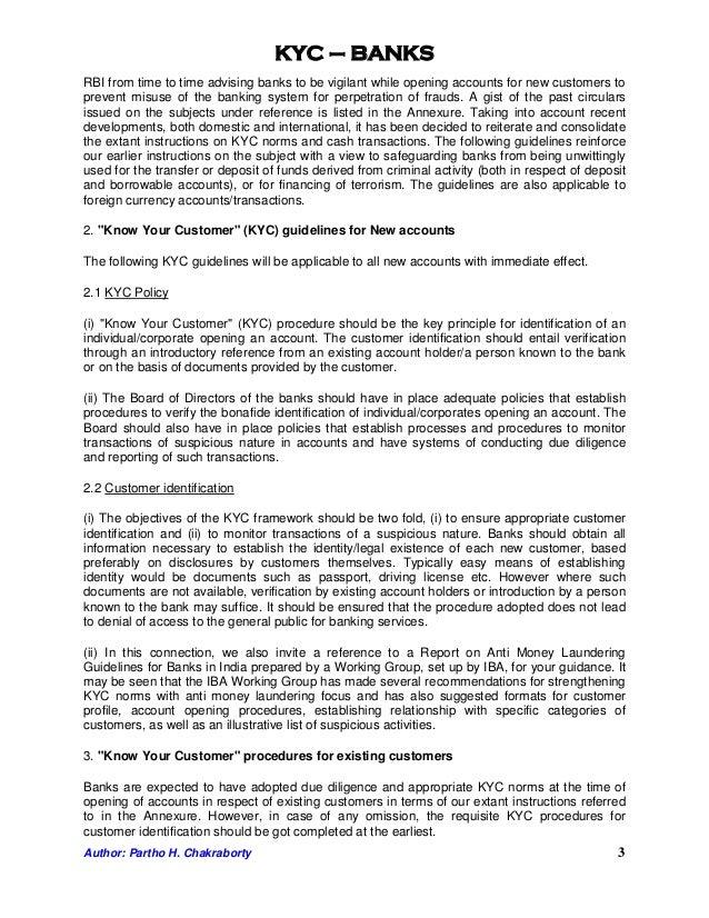 Kyc for bank - Portfolio protection