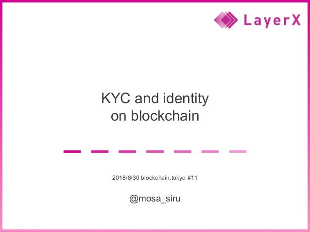 2018 LayerX Inc. all rights reserved. 1 KYC and identity on blockchain 2018/8/30 blockchain.tokyo #11 @mosa_siru