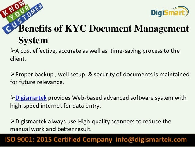 Basic information about why kyc document management system for Therefore document management price