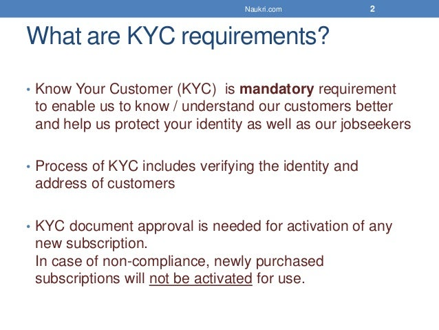 Why KYC is mandatory now