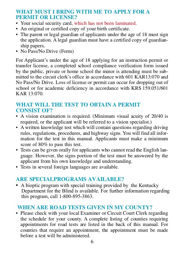 Ky drivers manual 14 publicscrutiny Choice Image