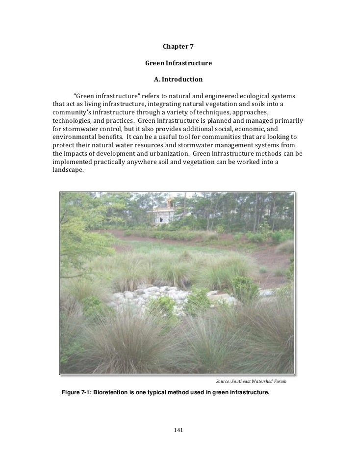 Chapter 7                                                                                Green Infrastructure             ...
